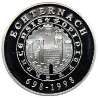 1300 лет коммуне Эхтернах. Монета 500 франков. 1998 год, Люксембург.