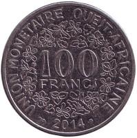 Монета 100 франков. 2014 год, Западные Африканские штаты.