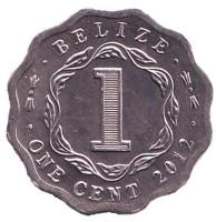 Монета 1 цент. 2012 год, Белиз.