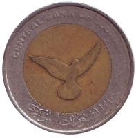 Голубь. Монета 50 пиастров. 2006 год, Судан. Из обращения.