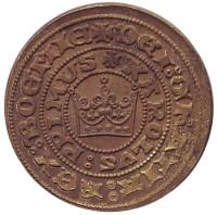 Пражский грош. Первые чешские деньги. Сувенирный жетон, Чехия.