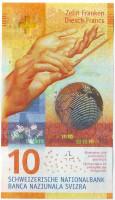 Банкнота 10 франков. 2017 год, Швейцария.