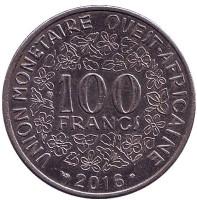 Монета 100 франков. 2016 год, Западные Африканские штаты.
