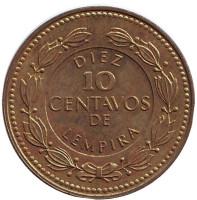 Монета 10 сентаво. 1993 год, Гондурас. (Латунь)