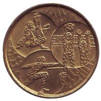 Олимпийский комитет Бельгии. Памятный жетон, 1978 год, Бельгия.