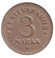 Монета 3 марки, 1925 год, Эстония.