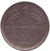 Монета 1 марка. 1976 год (J), ФРГ.