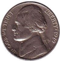 Джефферсон. Монтичелло. Монета 5 центов. 1979 год (P), США.