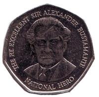 Александр Бустаманте - национальный герой Ямайки. Монета 1 доллар. 2006 год, Ямайка.