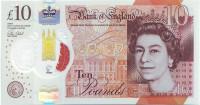Банкнота 10 фунтов. 2016 год, Великобритания.