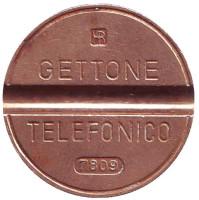 Телефонный жетон. 7809. Италия.