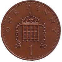 1 пенни. 1985 год, Великобритания.