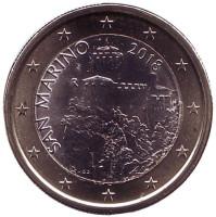 Монета 1 евро. 2018 год, Сан-Марино.
