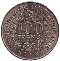 Монета 100 франков. 1978 год, Западные Африканские Штаты.