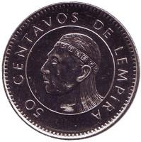Монета 50 сентаво. 2005 год, Гондурас.