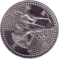 Биатлон. XVIII зимние Олимпийские Игры в Нагано. Монета 5000 йен. 1998 год, Япония.