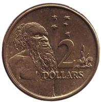 Старейшина аборигенов. Монета 2 доллара. 2013 год, Австралия.