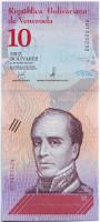 Банкнота 10 боливаров. 2018 год, Венесуэла.