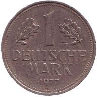 Монета 1 марка. 1977 год (F), ФРГ. Из обращения.