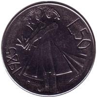 Борьба с наркотиками. Монета 50 лир. 1985 год, Сан-Марино.
