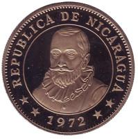 Монета 1 кордоба. 1972 год, Никарагуа. (Proof).