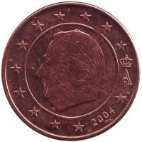 Монета 2 цента. 2004 год, Бельгия.