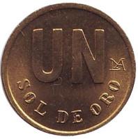 Монета 1 соль. 1980 год, Перу. UNC.