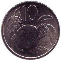 Апельсин. Монета 10 центов. 2015 год, Острова Кука.