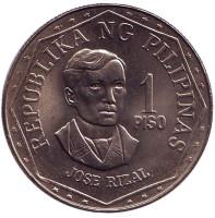 Монета 1 песо. 1978 год, Филиппины. UNC.