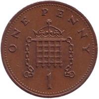 1 пенни. 1989 год, Великобритания.