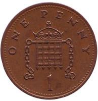 1 пенни. 1990 год, Великобритания.
