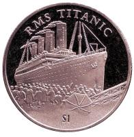 Титаник. Монета 1 доллар. 2002 год, Сьерра-Леоне.