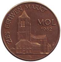 Zes Eeuwen Markt. Mol 1982. Сувенирный жетон.