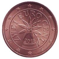 Монета 2 цента. 2018 год, Австрия.