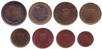Набор монет евро (8 шт). 2000 год, Нидерланды.