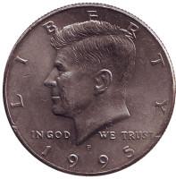Джон Кеннеди. Монета 50 центов. 1995 год (P), США.