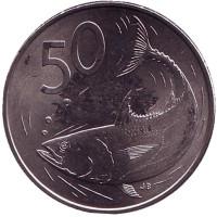 Тунец. Монета 50 центов. 2015 год, Острова Кука.