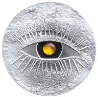 Янтарная монета. Монета 1 лат. 2010 год, Латвия.