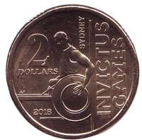 Игры непобеждённых. Монета 2 доллара. 2018 год, Австралия.