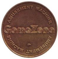 Гейм Зона. Gamezona. Игровой жетон. ММД. (отметка мд наклонена)