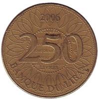Монета 250 ливров. 2006 год, Ливан.