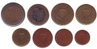 Набор монет евро (8 шт). 2001 год, Нидерланды.