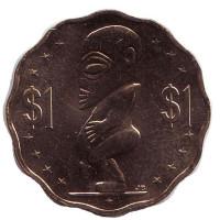Тангароа. Божество. Монета 1 доллар. 2015 год, Острова Кука.