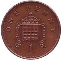 1 пенни. 1993 год, Великобритания.