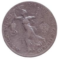60 лет правлению. Монета 5 крон. 1908 год, Австро-Венгерская империя.