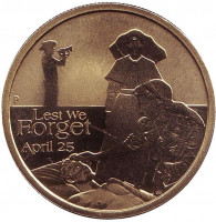 Медсёстры Первой мировой войны. Чтобы мы не забыли. Монета 1 доллар. 2012 год, Австралия.