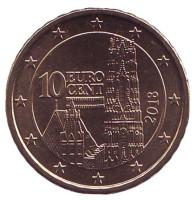 Монета 10 центов. 2018 год, Австрия.