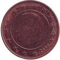 Монета 5 центов. 2004 год, Бельгия.