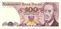 Людвиг Варынский. Банкнота 100 злотых. 1986 год, Польша.