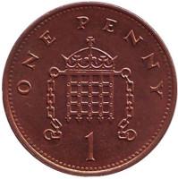1 пенни. 1995 год, Великобритания.